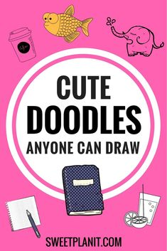 Cute doodles for Your bullet journal anyone can draw! Cute doodles for Your bullet journal anyone can draw! Simple Doodles, Cute Doodles, Flower Doodles, Cute Doodle Art, Random Doodles, Doodle Drawings, Easy Drawings, Planner Stickers, Journal Stickers