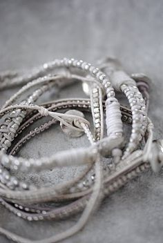 layers of texture + sparkle~next bracelet