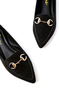 Classic Black Loafers - Vegan Suede Loafers