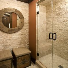 1000 images about bathroom remodel on pinterest stacked for Stacked stone bathroom ideas
