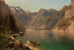 (Prague 1836–1900 Vienna) View of the Königssee, signed A. Chwala, oil on canvas, 68 x 97.5 cm,