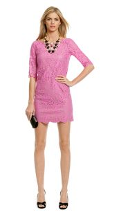 Rent the runway, purple dress, lace