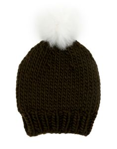 Zion hat with fluffy pompom