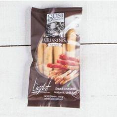 Así se ve la presentación personal de grissinis Susi, perfectos para llevarlos contigo, compartirlos o disfrutarlos a solas.