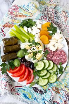Turkish Breakfast is a a gluten free and grain free plate that is filling, healthy, satisfying and great any time of day!