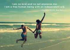 free spirited quotes | Be Free! Charlotte Bronte Inspirational Photo Quote - The Rebel Chick