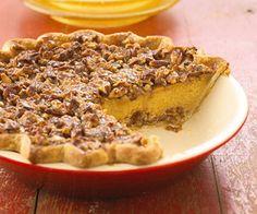 Pecan-Topped Pumpkin Pie Recipe