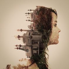 Dan Mountford, a British photography student, plays with reflection, double exposure and photoshop to create these beautiful pieces: Portraits En Double Exposition, Exposition Multiple, Brighton, Photomontage, Multiple Exposure Photography, Dual Exposure, Graphic Projects, Grafik Design, Image Shows
