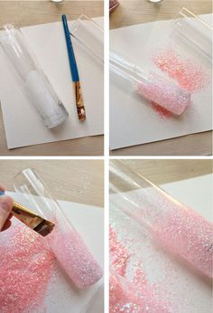 Icing Designs: DIY Glittery Pink Vases.  Maybe not pink.... But I love the design/ vase!
