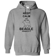Keep calm and let the BEAGLE handle it T-Shirts, Hoodies. CHECK PRICE ==► https://www.sunfrog.com/Pets/Keep-calm-and-let-the-BEAGLE-handle-it-jwndb-SportsGrey-5832711-Hoodie.html?id=41382
