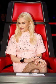 Gwen Stefani on The Voice. Hair by Jen Atkin.