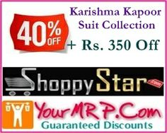 FLAT 40% Off + Rs 350 on Karishma Kapoor Suits Collection