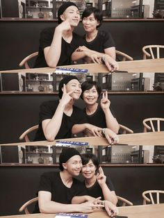 Rapmon with his mom ❤