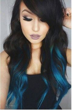 Are you looking for dark blue hair color for ombre and teal? See our collection full of dark blue hair color for ombre and teal and get inspired! Fall Hair Colors, Ombre Hair Color, Cool Hair Color, Blue Ombre, Teal, Dye My Hair, New Hair, Grey Balayage, Bayalage