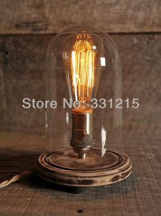 Cheap vintage car light bulbs, Buy Quality light bulb white directly from China wooden puzzle Suppliers: WOODen Edison Vintage Table lamp with 40w bulb This is a beautiful walnut base glass bell jar with an antiqu