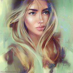 View information and inspiring digital artwork from one of my inspirational artists, Aleksei Vinogradov, whose female portraits, are mouth watering. Digital Portrait, Portrait Art, Digital Art, Digital Paintings, Fantasy Inspiration, Character Inspiration, Character Art, Corel Painter, Realistic Drawings