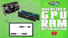 Learn How To Overclock Graphic Card + RAM + Screen Resolution Video Card, You Videos, Resolutions, Meant To Be, Learning, Youtube, Pictures, Waiting, Photos