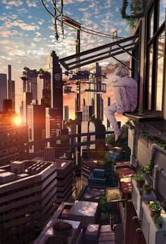 Post with 4747 votes and 193651 views. Tagged with wallpaper, anime, aww, wallpaperdump, dump; Change of Scenery Pt. Aesthetic Art, Aesthetic Anime, Yuumei Art, Sci Fi Anime, Anime City, Arte Cyberpunk, Japon Illustration, Anime Kunst, Scenery Wallpaper