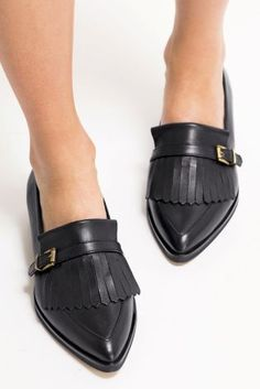 Black Luxe Leather Point Shoes from the Next UK