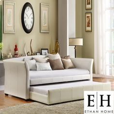 For a living room or office: Daybed with trundle that easily pulls out for an extra person for sleeping!