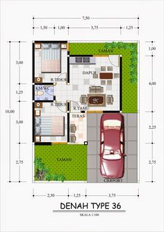 New exterior apartment projects ideas 3d House Plans, Small House Floor Plans, Dream House Plans, Home Map Design, Home Room Design, Home Design Plans, Minimalist House Design, Small House Design, The Plan