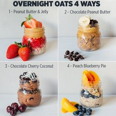 The MOST Delicious VEGAN Breakfast Idea🥣💡Overnight Oats 🤯🤤😍 *Swipe to see ingredients + recipes! ⠀ ⠀ Blow your taste buds away with these Chocolate Protein Powder, Chocolate Shake, Chocolate Cherry, Chocolate Peanuts, Chocolate Peanut Butter, Delicious Chocolate, Peanut Butter Overnight Oats, Easy Overnight Oats, Overnight Breakfast