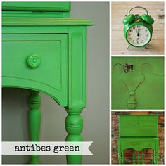 Antibes Green Chalk Paint®.  Available At Eco Chic Boutique.