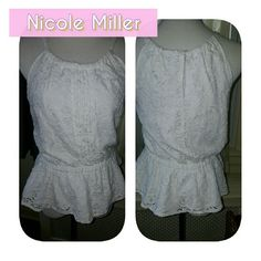 Nicole Lacy Peblum top L Boy do I wish I could still get into this. It is so feminine. It measures 16 inches underarm to underarm and this is it true beautiful piece. I am open to reasonable offers Nicole by Nicole Miller Tops