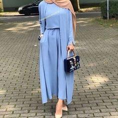 Hijab Mode 2018 - Hijab Chic - Hijab Fashion and Chic Style dresses Hijab Chic, Modest Fashion Hijab, Abaya Fashion, Muslim Fashion, Fashion Outfits, Modesty Fashion, Fashion 2018, Fashion Fashion, Fashion Trends