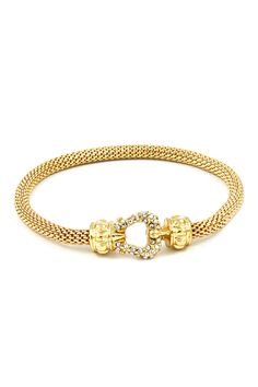 Classic Cable Mesh Bracelet in Gold