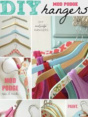 Here are 30 of our very favorite and SIMPLE mod podge ideas and craft projects! There's a fun project for every mod podge lover out there. Diy Mod Podge, Coin Couture, Spray Paint Tips, Diy Wrapping Paper, Wrapping Papers, Painting Laminate Furniture, Diys, Wooden Hangers, Diy Hangers
