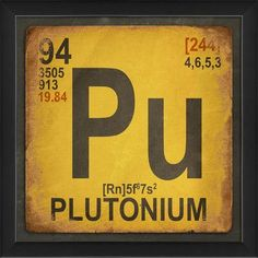 The Artwork Factory Plutonium Element Framed Textual Art