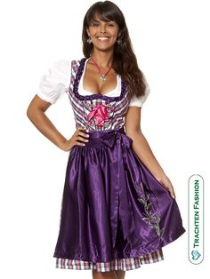 dirndl in plaid to tempt my Scottish hubby, of course in red