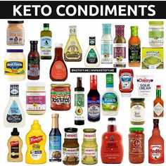⭐️ KETO CONDIMENTS ⭐️ Keto food doesn't have to be bland! Here are some condiments you can eat on Keto. Let'… - Keto Diet Tips Keto Cookies, Cetogenic Diet, Ketosis Diet, Diet Menu, Keto Sauces, Keto Bbq Sauce, Keto Ketchup, Comida Keto, Starting Keto Diet