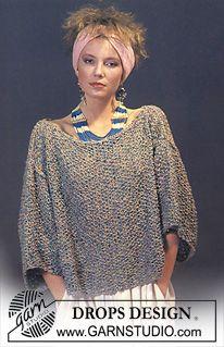 Perlestrikket DROPS genser i Tweed. ~ DROPS Design