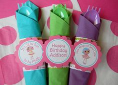 12 Lalaloopsy Birthday Party Paper Napkin Rings. $10.00, via Etsy.