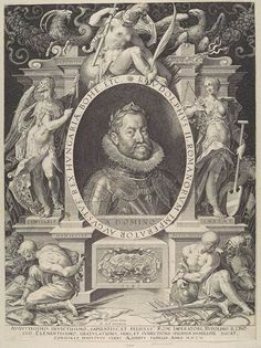 Rudolf II, Holy Roman Emperor by Aegidius Sadeler (1603)