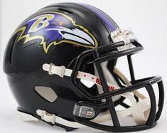 College Football Helmets, Helmet Brands, New Helmet, Kids Tumbler, Nfl Denver Broncos, Helmet Design, Baltimore Ravens, American Football, Mini