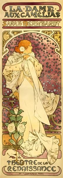 The Lady of the Camellias, 1896 - Alphonse Mucha