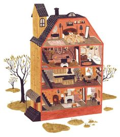 Image result for house illustration inside