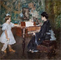 William Merrit Chase - The Music Lesson