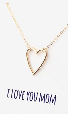 Heart Necklace for Mom