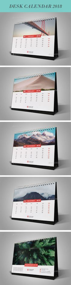 Desk Calender 2018 12 Page ( cover page ) Ai & Eps file. Photos are not included in the main file. Desk Calender, Office Calendar, Calendar 2019 Design, Calendar 2018, Corporate Stationary, Stationery Design, Cover Pages, Web Design, Design Ideas