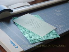 DIY Layered Handmade Paper Wedding Invitations