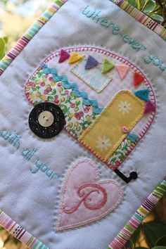 Happy Camper RV quilt DIY sewing project