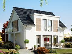 Celebration 125 V5 Einfamilienhaus • Attraktives Konzepthaus mit 2- geschossigem Giebel-Erker und Wintergarten • Traumhauskataloge bestellen • Kontakt aufnehmen!