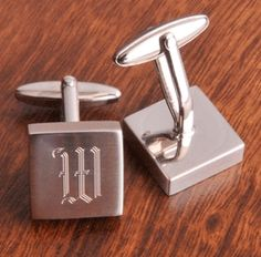 personalized silver cufflinks perfect for your 16th anniversary or your 25th!