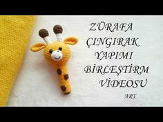 Amigurumi Giraffe Rattle Making - aigurumi - Lol dolls Amigurumi Giraffe, Amigurumi Patterns, Amigurumi Doll, Doll Patterns, Crochet Mouse, Crochet Baby, Crochet Motifs, Crochet Patterns, Crochet Neck Warmer
