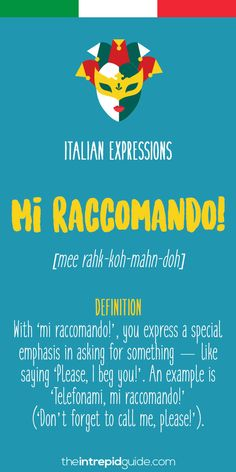 Top 10 Italian Expressions Italians Love Saying - op 10 Italian Expressions - Mi raccomando! Italian Grammar, Italian Vocabulary, Italian Language, German Language, Japanese Language, Chinese Language, Italian Love Phrases, Italian Words, Italian Quotes