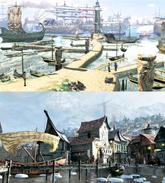 Returning locations [in the The Longest Journey Saga] ↳Arcadia (Part I) The Longest Journey, Adventure Games, Environmental Design, Dear Diary, Game Art, Paris Skyline, Shark, Fantasy, Architecture